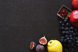 Still life with figs, quince, grapes and pomegranates