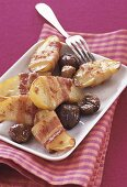 Potatoes with bacon and chestnuts