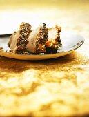 Veal fillet steak (Filet mignon) with rosemary honey