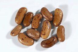 Several borlotti beans