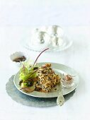 Chicken fillet with macadamia crust