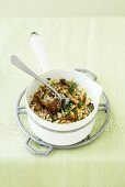 Autumn risotto with oyster mushrooms