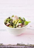 Courgette salad with ham