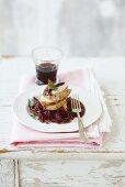 Pork fillet with port wine sauce