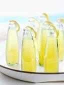 Lemon drink in bottles