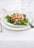Coronation chicken (chicken salad, UK) on watercress