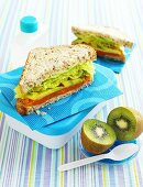 Sweet potato and avocado sandwiches for lunch