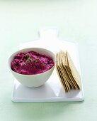 Beetroot dip with chives