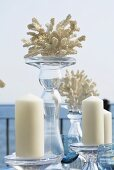 Maritime table decoration (candles and candlesticks)