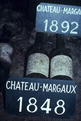 Old wines, Chateau Margaux, Medoc, France