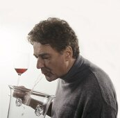 Spitting out wine after tasting