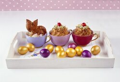 Easter pastries in cups for Easter brunch