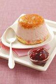 Frozen strawberry yogurt dessert