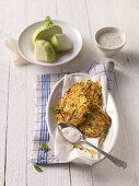 Kohlrabi and potato cakes