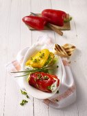 Peppers filled with sheeps' cheese