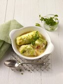 Stuffed Chinese cabbage roulade