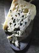 A piece of Roquefort on a slice