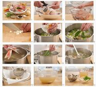 Making fish stock