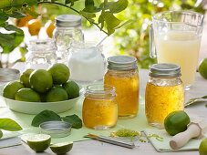 Lime jelly with lime zest