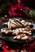 Pierniczki (Gingerbread biscuits with chocolate drizzle, Poland)