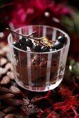 Chocolate parfait for Christmas