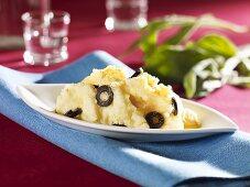 Olive mashed potato