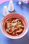Portuguese tripe soup with white beans