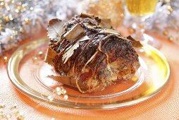 Bacon-wrapped roast ham (Christmas)