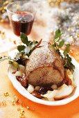 Roast beef with fruit (Christmas)