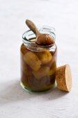 Bottled chestnuts in syrup