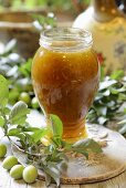 Apple and plum jam