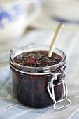 Cranberry jam in jar