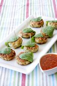 Fish cakes with dip
