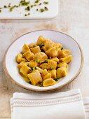 Sweet potato gnocchi with pistachios