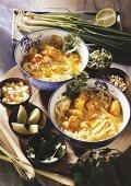 Asian noodle soup with fish (Mo Hin Ga)