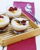 Gratinierte Vanillecreme mit Cranberries