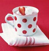 Strawberry cream in a cup