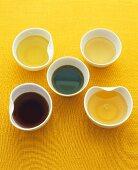 Various types of Vietnamese oils