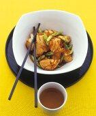 Marinated chicken with leeks (Vietnam)