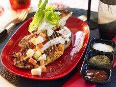 Caribbean-style grilled chicken breast
