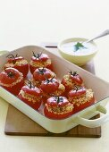 Tomatoes stuffed with couscous