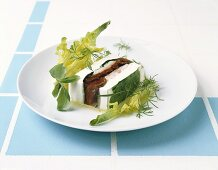 Trout and ricotta terrine
