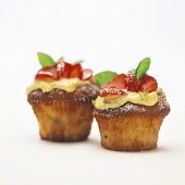 Strawberry and lime muffins