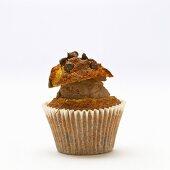 Chocolate ice cream muffin