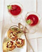 Frozen Strawberry Daiquiri and feta snails