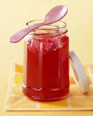 Melon and raspberry jelly