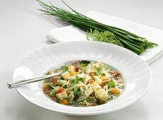 Bean and noodle soup