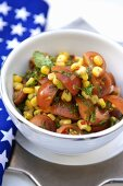 Sweetcorn and tomato salad