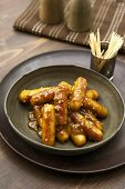 Sausages with honey mustard sauce