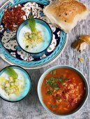 Cucumber and tomato soup (Turkey)